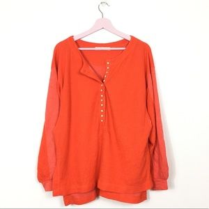 Free People Back At It Henley top